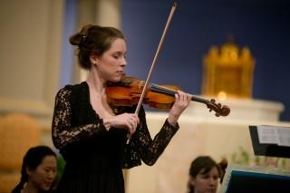 "Destiny Mermagen, Violin, playing ""Spring"""